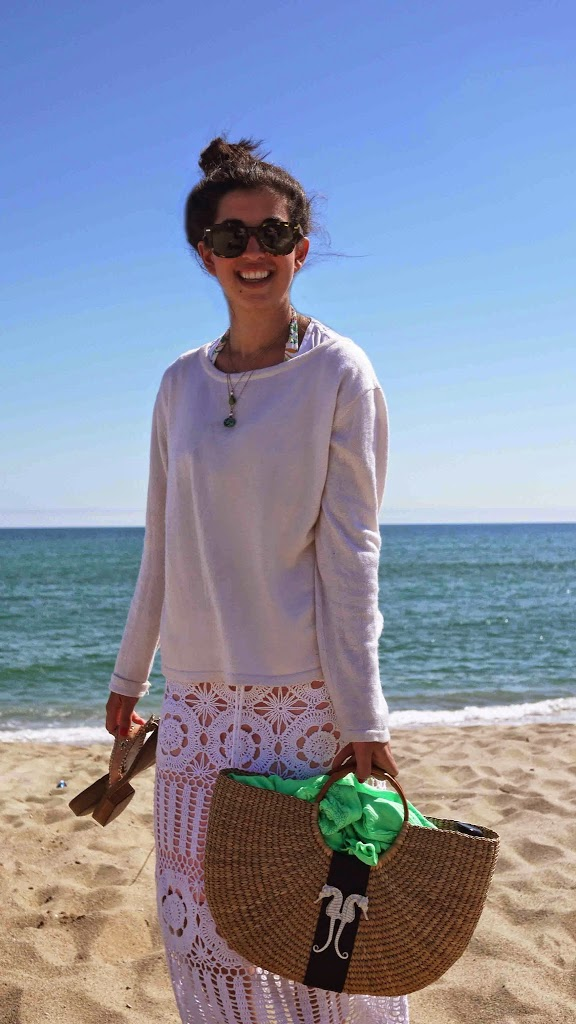 Straw Seahorse Beach bag from buggy designs