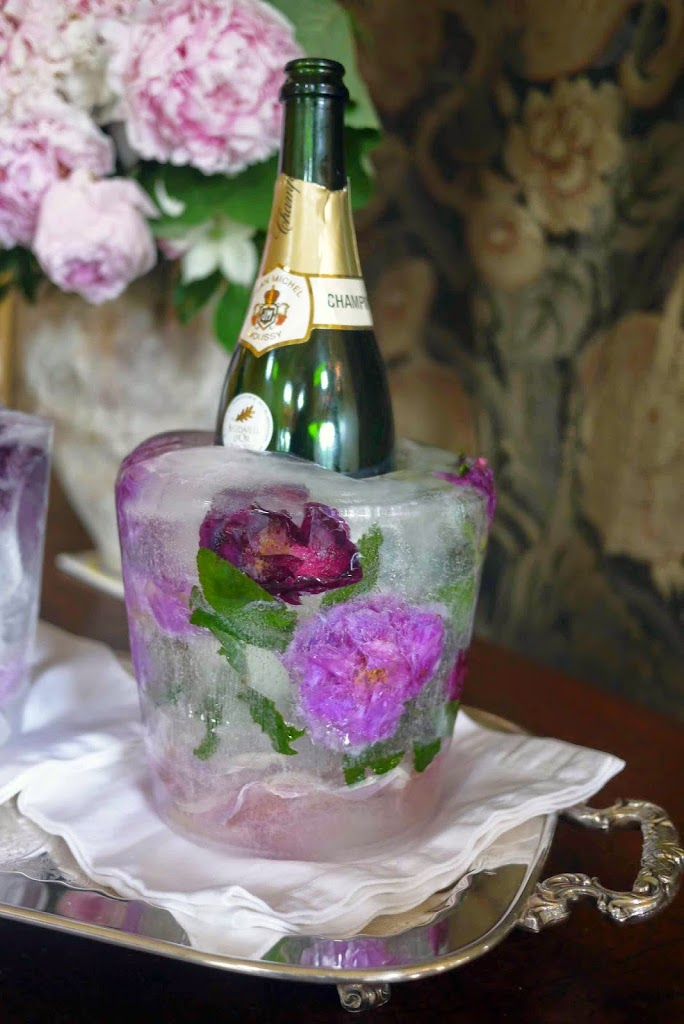 DIY Floral Ice Bucket Cooler For Wine Champagne And