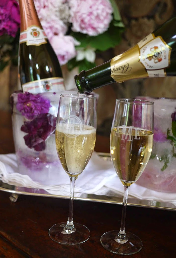 diy floral ice bucket cooler for wine  champagne and spirits