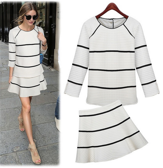 Olivia Palermo styles a 2 piece set. Fall must-haves on Sale