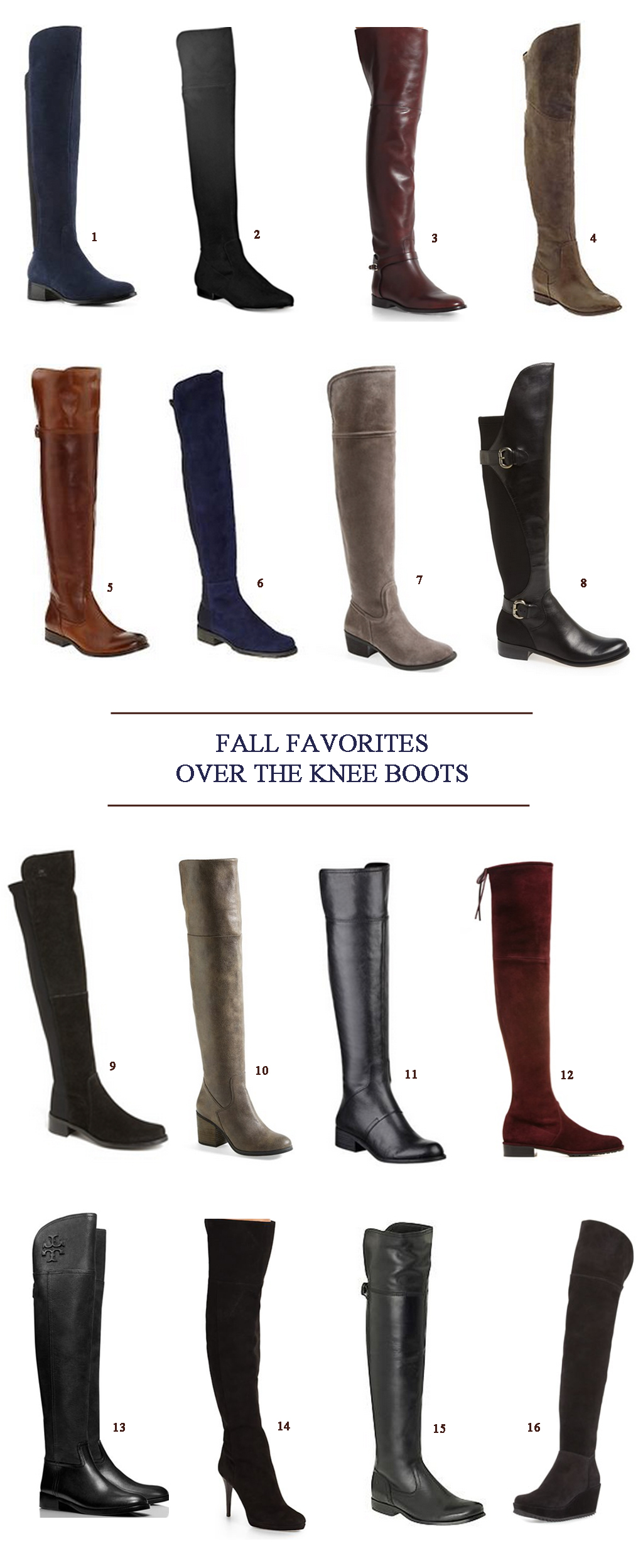 Over The Knee Boots for Fall 2014