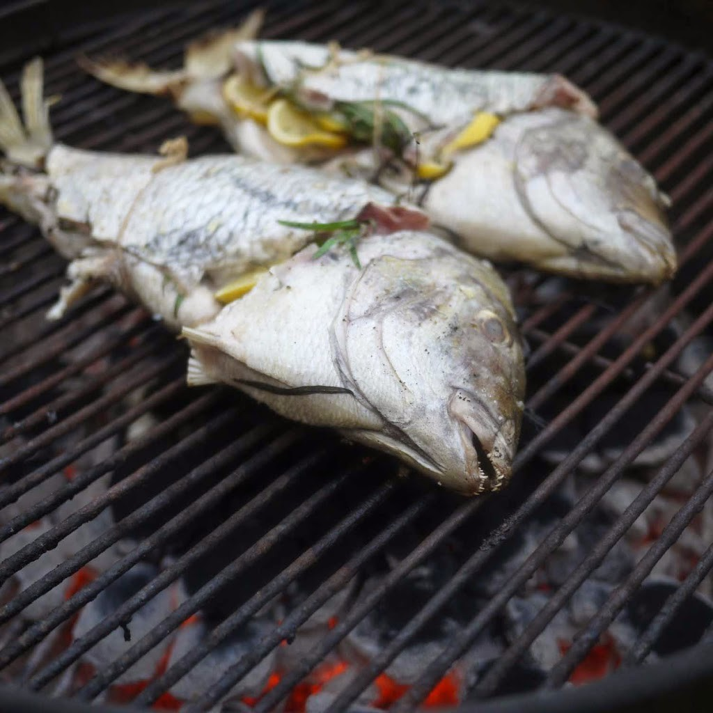 grilled whole fish with latholemono recipe