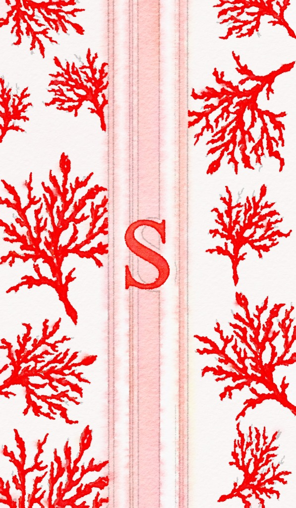 Coral Monogram Iphone 6 Cases at Buggy Designs