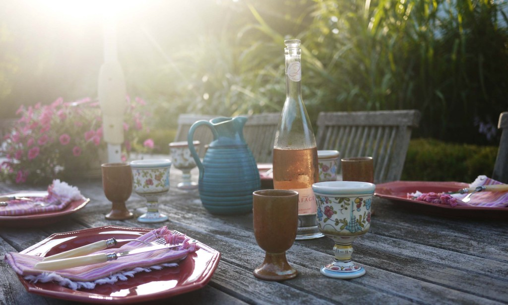 Provencal Plates and al fresco dining