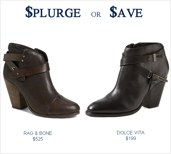 Rag & Bone Harrow Booties look alike for Less
