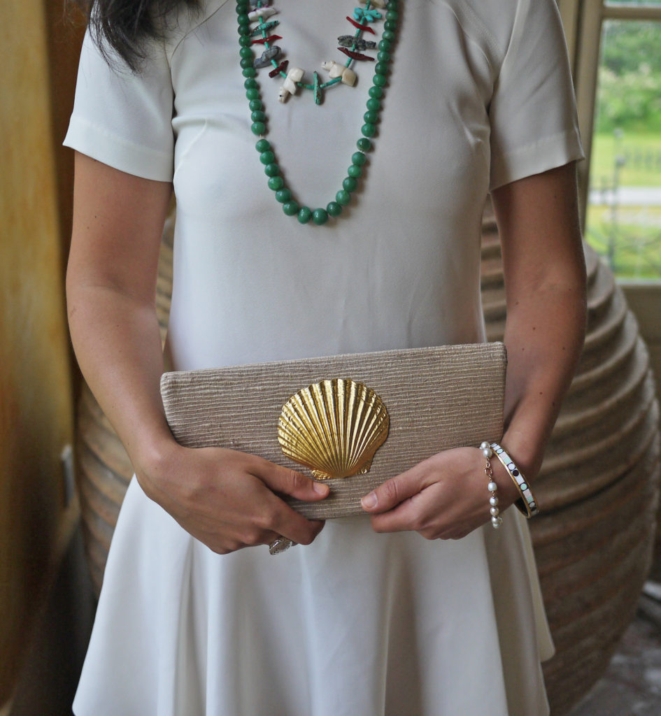 buggy-blog-shell-clutch-buggy-designs-banana-republic-flounce-dress